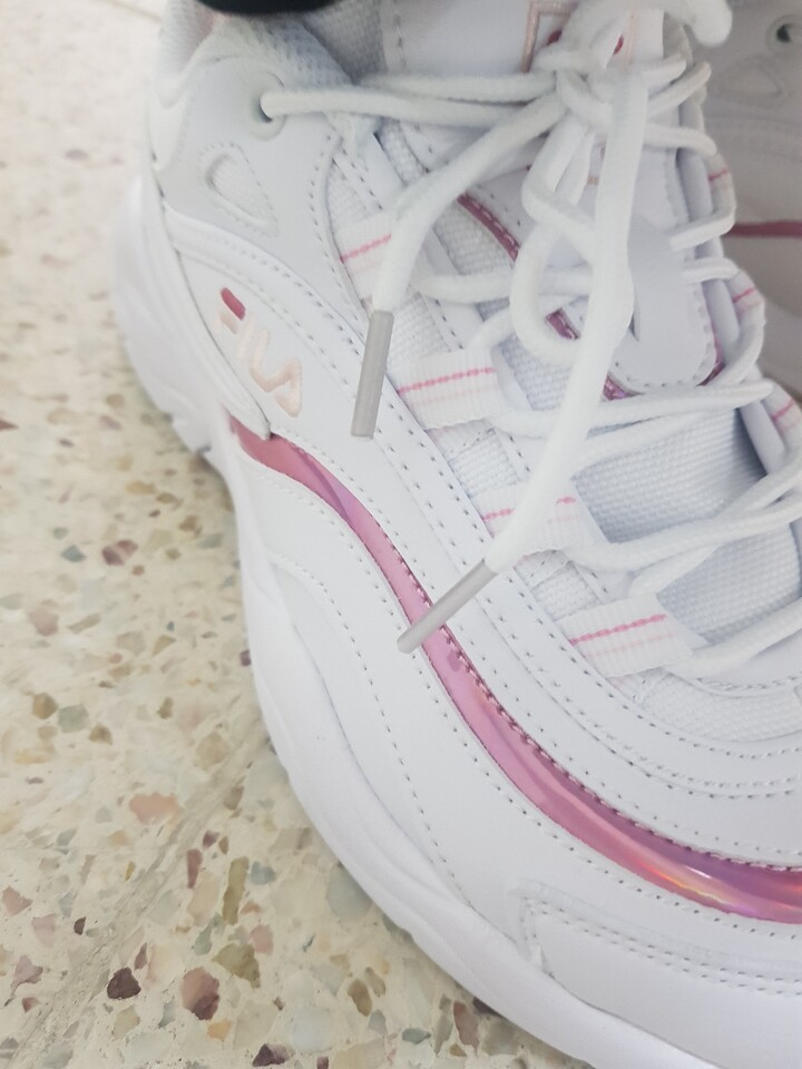 fila ray shiny pink
